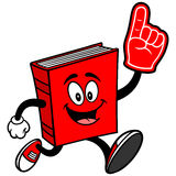 Book Running with Foam Finger Royalty Free Stock Images
