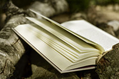 Book in a rustic scenery Royalty Free Stock Photography