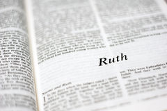Book of Ruth Stock Image