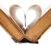 Book's pages. Heart of the book's pages Royalty Free Stock Image