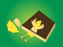 Book sandwich duck Royalty Free Stock Photography