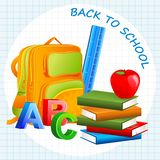 Book with School Bag Royalty Free Stock Photo