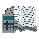 Book school with calculator supply icon Royalty Free Stock Images