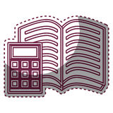 Book school with calculator supply icon Royalty Free Stock Photo