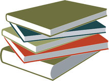Book set. Vector Book set in color vector illustration