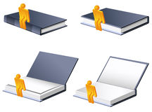 Book Set with man Royalty Free Stock Image