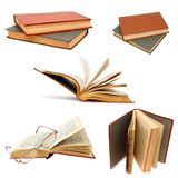 Book set open background old cover isolated Royalty Free Stock Photography