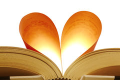 Book in the shape of a heart Royalty Free Stock Photography
