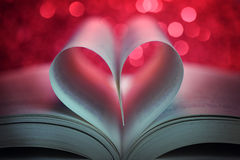 Book in the shape of a heart Royalty Free Stock Images