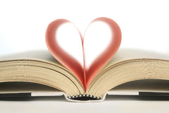 Book in the shape of a heart Royalty Free Stock Photo