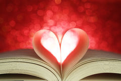 Book in the shape of a heart Stock Image