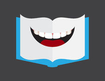 Book shape lips royalty free illustration