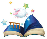 A book with a sheep jumping Stock Image