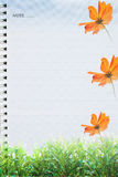 Book sheet with nature design Royalty Free Stock Image