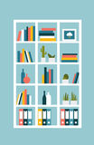 Book shelf, case. Vector illustration. Royalty Free Stock Photography