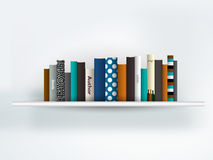 Book shelf interior. Stock Image