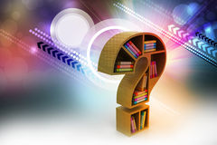 Book shelf in the model of question mark Royalty Free Stock Images