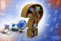 Book shelf in the model of question mark Royalty Free Stock Photography