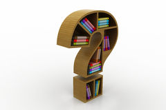 Book shelf in the model of question mark Stock Image