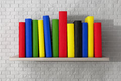 Book Shelf with Multicolour Books Royalty Free Stock Photo