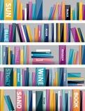 Book shelf. Plastic illustration. Stock Photography