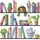 Book shelf seamless pattern Stock Images
