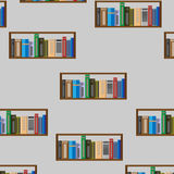Book shelf seamless pattern Royalty Free Stock Image