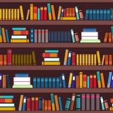 Book shelf seamless pattern Stock Images