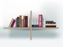 Book shelf. Vector illustration. Royalty Free Stock Photography