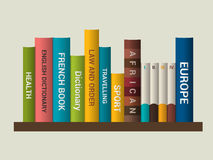 Book shelf. Vector illustration. Stock Photo
