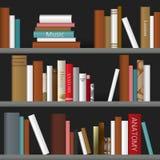 Book shelf. Vector illustration. Stock Image