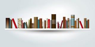 Book shelf. Vector illustration. Stock Images