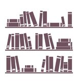 Book shelf vector illustration isolated on white Royalty Free Stock Images