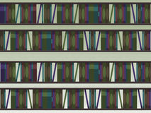 Book Shelfs Pattern Stock Photography