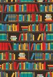 Book Shelves  Dtcorative Colorful Icon Poster Stock Images