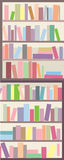 Book shelves seamless banner Royalty Free Stock Photos