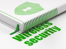 Book Shield With Keyhole, Wireless Security on Stock Image