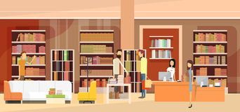 Free Book Shop Interior Bookstore Customers Sales Woman Cash Desk Stock Photos - 70996563