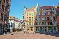 Book shop on the Market Square in Hanover in Germany Stock Photo