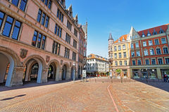 Book shop on Market Square in Hanover in Germany Royalty Free Stock Photos