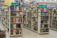 Book shop in supermarket Siam Paragon. Bangkok, Thailand Royalty Free Stock Photo
