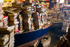 Book shop in Venice stock images