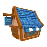 Book Shop on white background. 3d rendering royalty free stock image