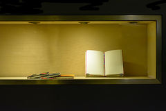Book in the showcase Royalty Free Stock Image