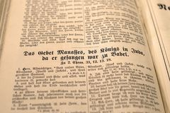 Book Showing Das Gebet Mananes Des Text in Shallow Focus Photography Royalty Free Stock Photography