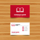 Book sign icon. Open book symbol. Royalty Free Stock Photography