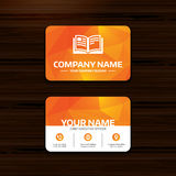 Book sign icon. Open book symbol. Royalty Free Stock Photos