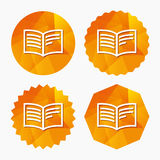 Book sign icon. Open book symbol. Stock Photography