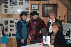 Book-signing Mary Henley Rubio. Author Mary Henley Rubio pictured with (left to right)Sandy Wagner, Luella Veijalainen, oldest granddaughter of LM Montgomery and Stock Image