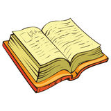 Book. Single colorful book on white Royalty Free Stock Photo